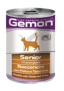 GEMON Chunkies Senior Chicken & Turkey