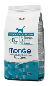MONGE SUPERPREMIUM KITTEN Rich in Chicken