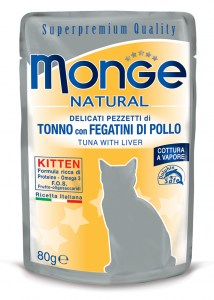 MONGE Tuna with liver in Jelly Kitten
