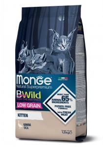 Monge BWild Low Grain Kitten Goose